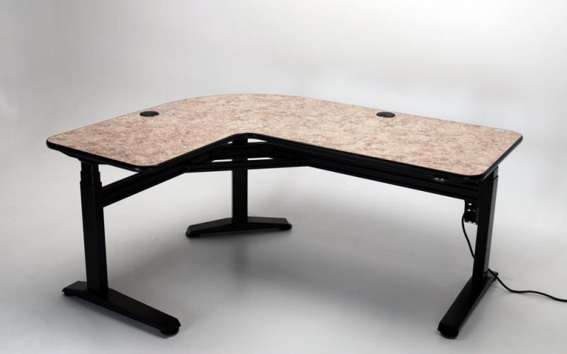 ergo l height adjustable lshaped desk - Music Production Desk