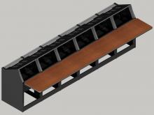 6 bay straight Logic System modular control console