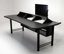 Transform console desk with 3 rackmount turrets