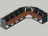 7 bay Logic System L shaped control room console