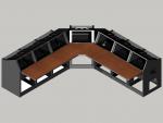 7 bay Logic System corner control room console
