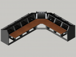 8 bay Logic System L shaped control room console
