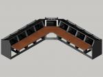 9 bay Logic System corner control room console