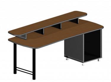 "83"" desk with 14ru rackmount space"