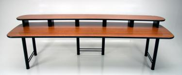 CF115 large edit desk in Amber Cherry