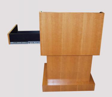Cherry lectern with document camera drawer