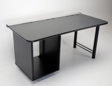 Custom 66 inch desk with 14 ru equipment rack