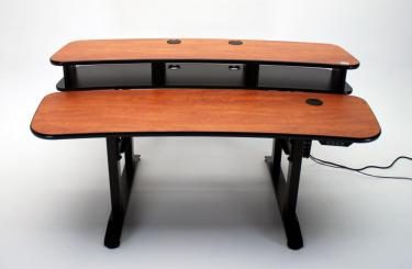 Ergo Duet 68 dual surface height adjustable desk in down position