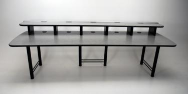115 Rail desk for multiple monitor setup