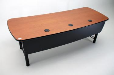 CLF 84 desk angled view with modesty panel