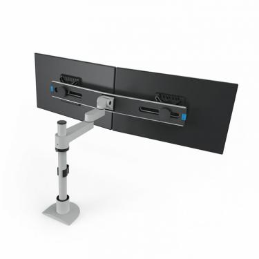 Pole mount for 2 monitors on extension