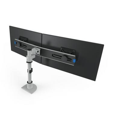 Pole mount for 2 screens