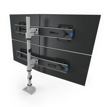 Pole mount for 4 monitors