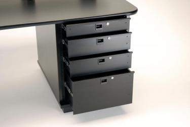 "2 RU (3-1/2"") Rackmount Drawers with catch and lock"