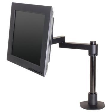 Single pole mount 14 inch reach in black
