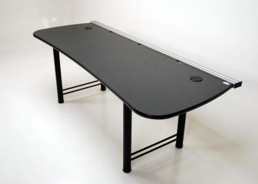 Vanguard 84 desk for large screens, speaker mounts and multiple monitor mounts