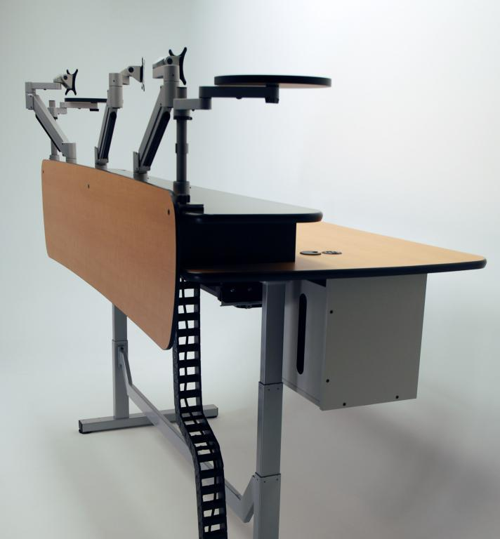 height adjustable music production desk martin ziegler. Black Bedroom Furniture Sets. Home Design Ideas