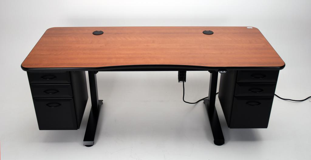 Lovely Adjustable Height Office Desk With Optional Drawers
