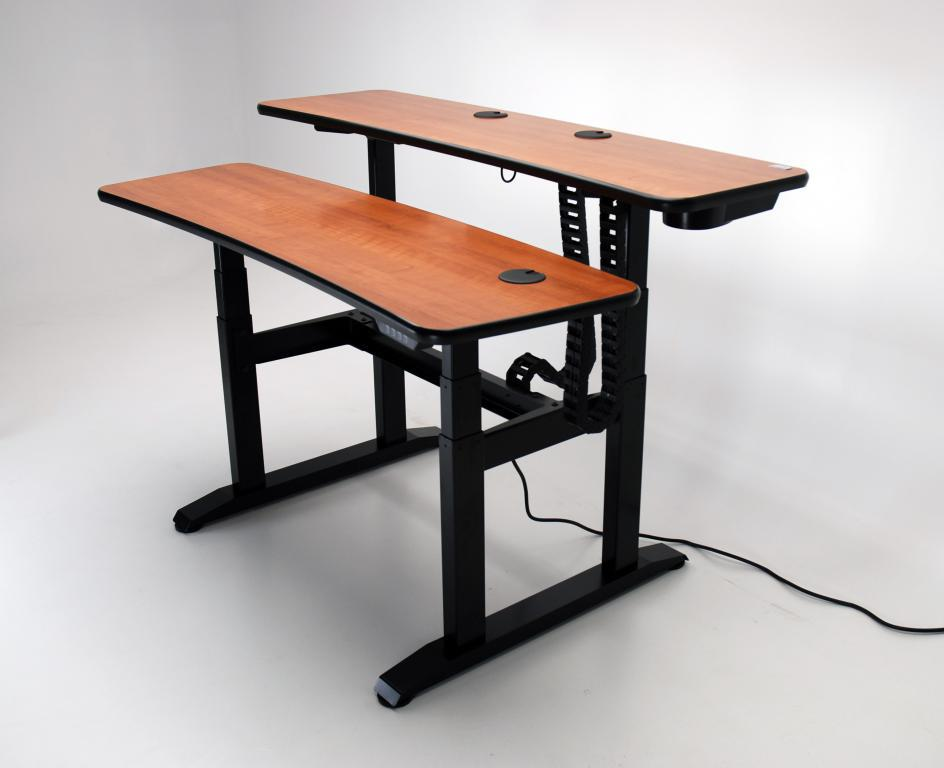 ergo duet 62 adjustable height desk martin ziegler. Black Bedroom Furniture Sets. Home Design Ideas