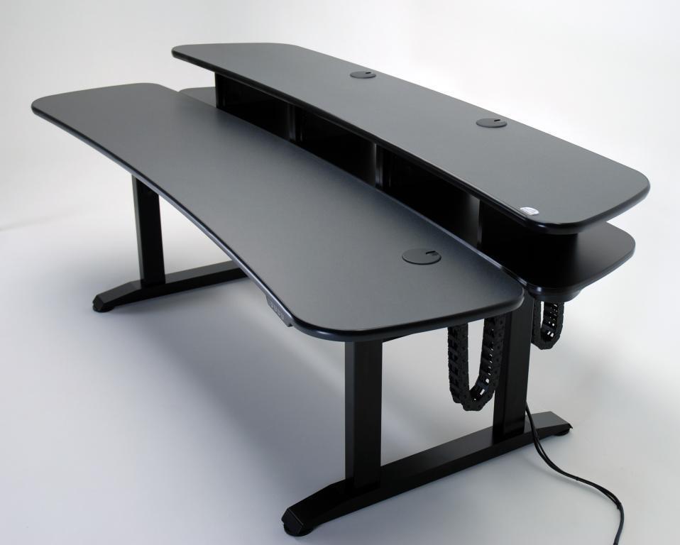 ergo duet dual surface height adjustable desk with rackmount