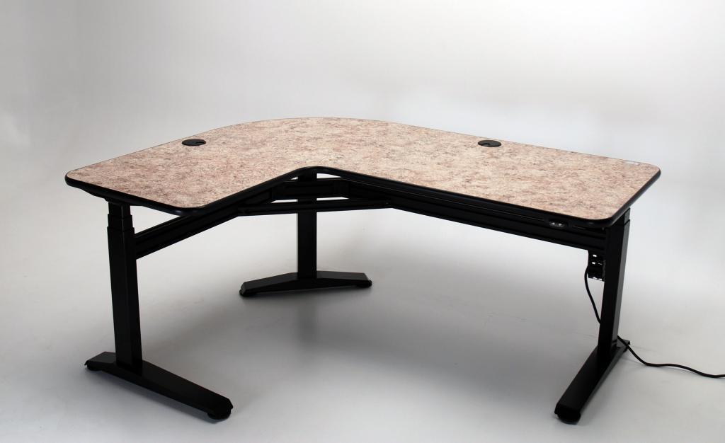 L Shaped Desk Images ergo l height adjustable l-shaped desk | martin & ziegler