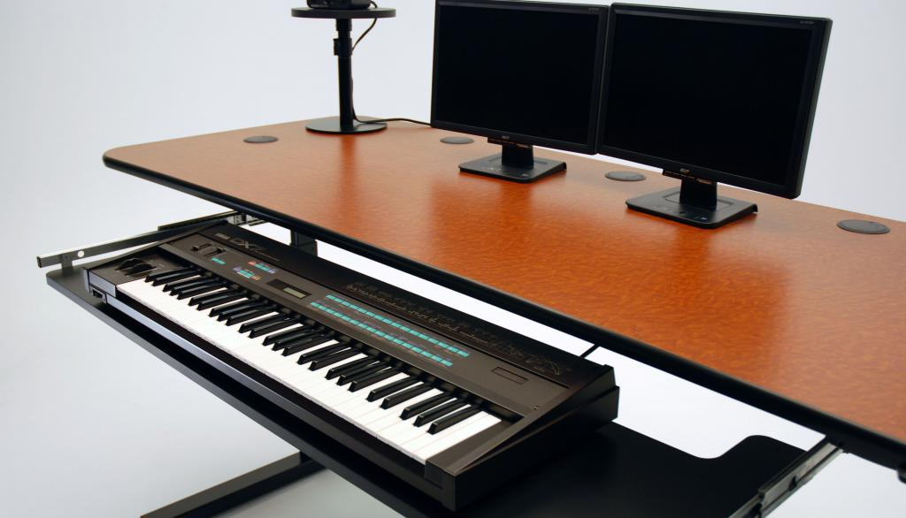 Ergo Music Height Adjule Audio Desk Keyboard Out