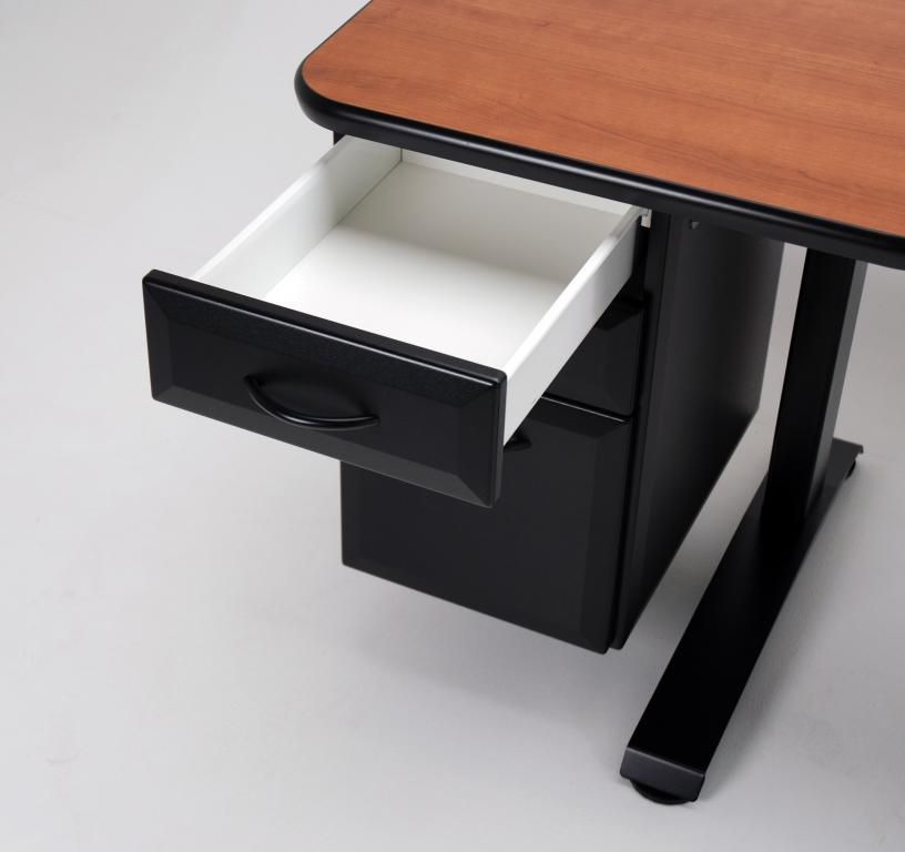 Ergo Office Adjule Height Desk Raised Optional Drawer Bank Top