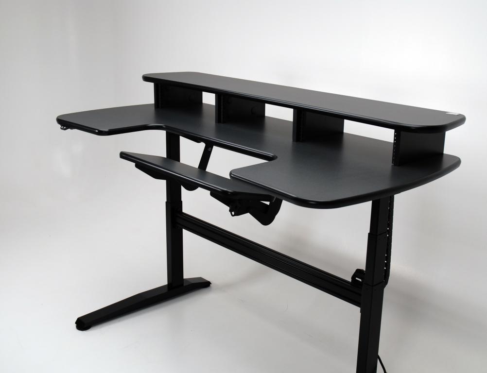 ergo cascade height adjustable desk with keyboard section martin ziegler. Black Bedroom Furniture Sets. Home Design Ideas