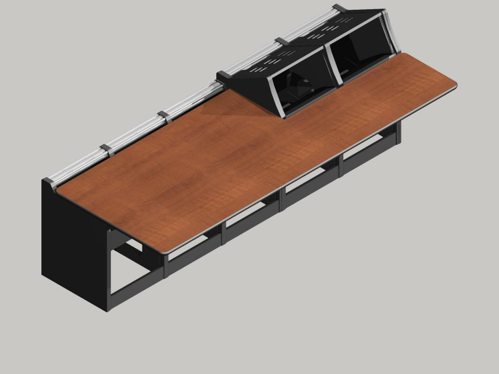 Logic System Modular Control Consoles 2 regular and 3 deck only bays