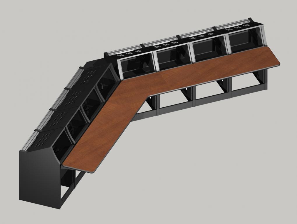8 bay V shaped Logic System control room console
